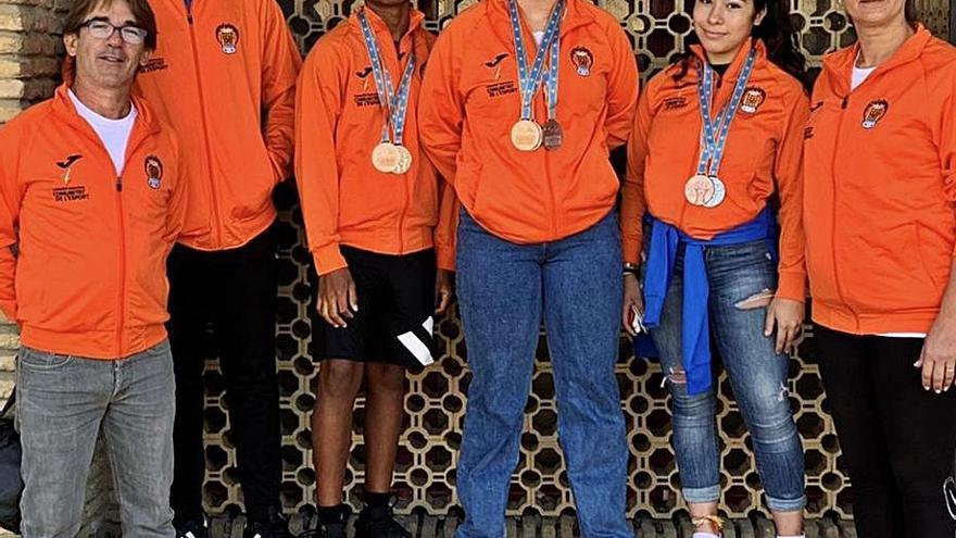 El AC Gandia, entre los mejores de España tras sus 7 medallas sub17
