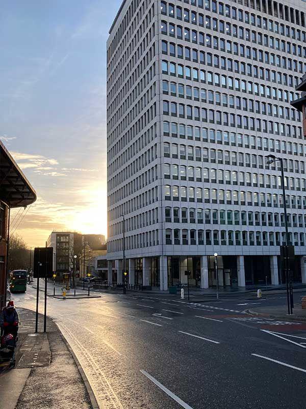 Edificio de Bristol vacío, este 30 de diciembre