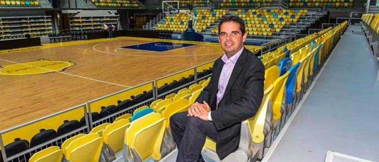 Lucas Bravo de Laguna, en el Gran Canaria Arena.