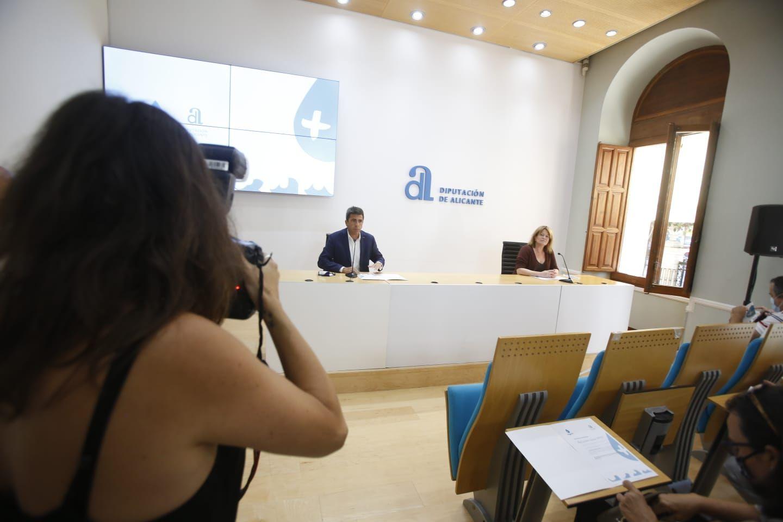 Mazón presenta el Plan Agua en la Diputación de Alicante