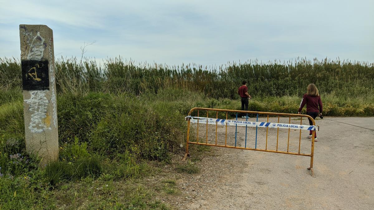 Paraje del Clot de Burriana, donde apareció el cadáver de una mujer.