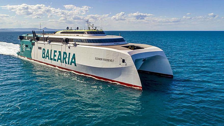 Baleària realiza el primer trayecto descarbonizado de la navegación europea