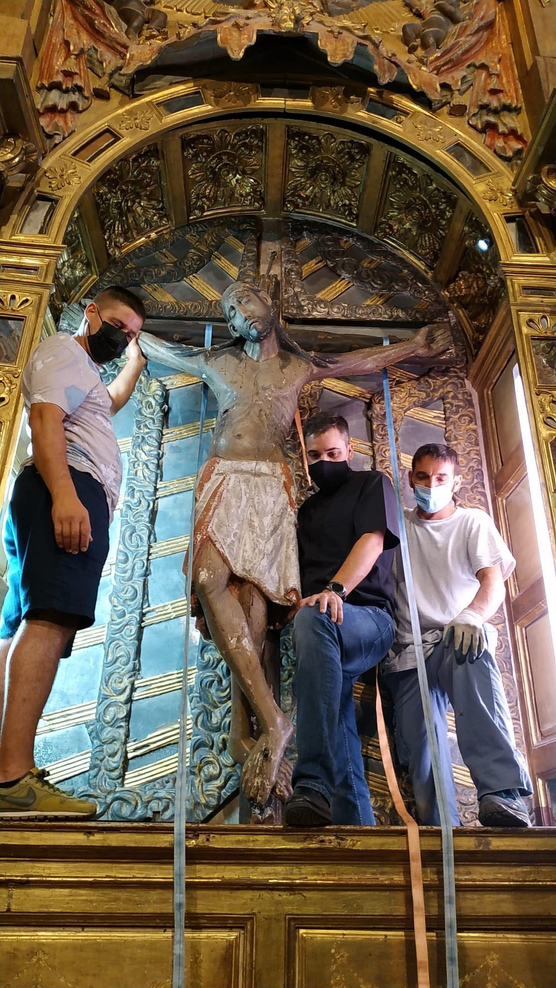 El Cristo de Morales sale de su ermita por el COVID-19