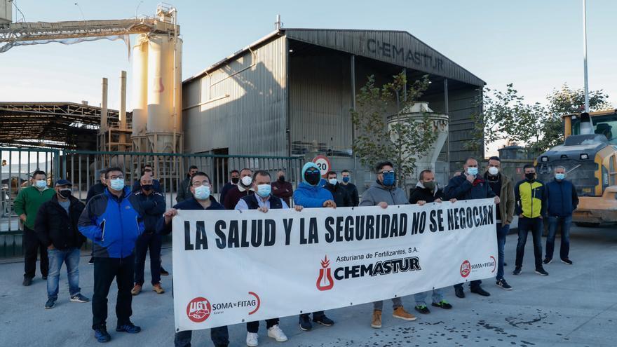 La plantilla de Chemastur retoma la huelga, convocada hasta fin de año