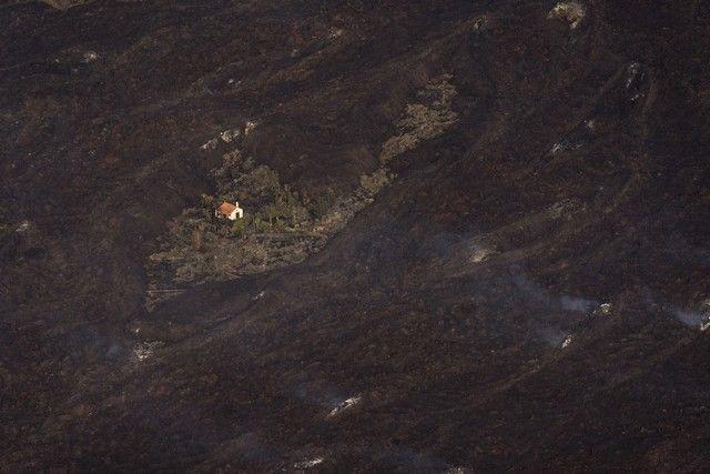 Imágenes aéreas del volcán de La Palma