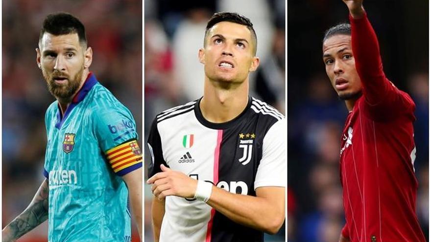 Messi, Cristiano y Van Dijk luchan por 'The Best'