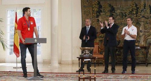 La selección, recibida en Moncloa por Rajoy