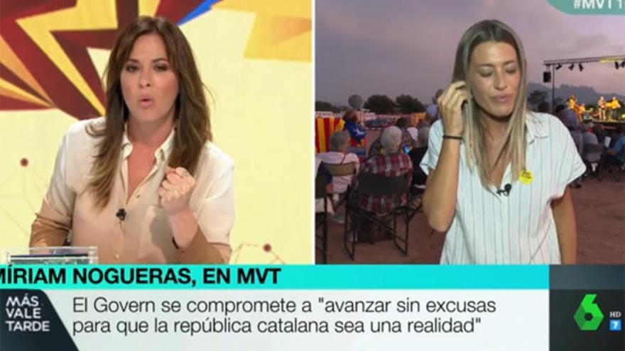 Mamen Mendizábal protagoniza la entrevista más tensa con Míriam Nogueras, del PDeCat