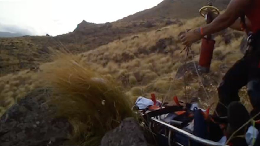 Herido tras sufrir una caída en un barranco en Gran Canaria