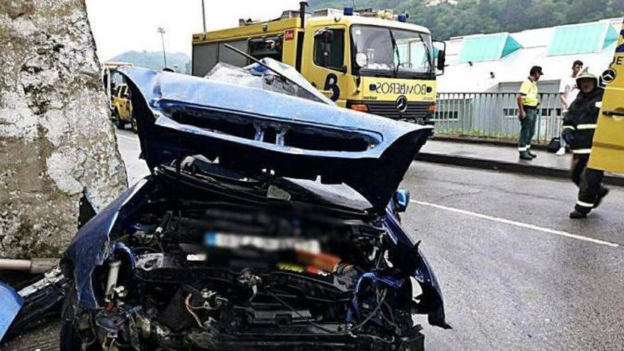 Fallece el joven mierense de 19 años que resultó herido en el accidente de Mieres