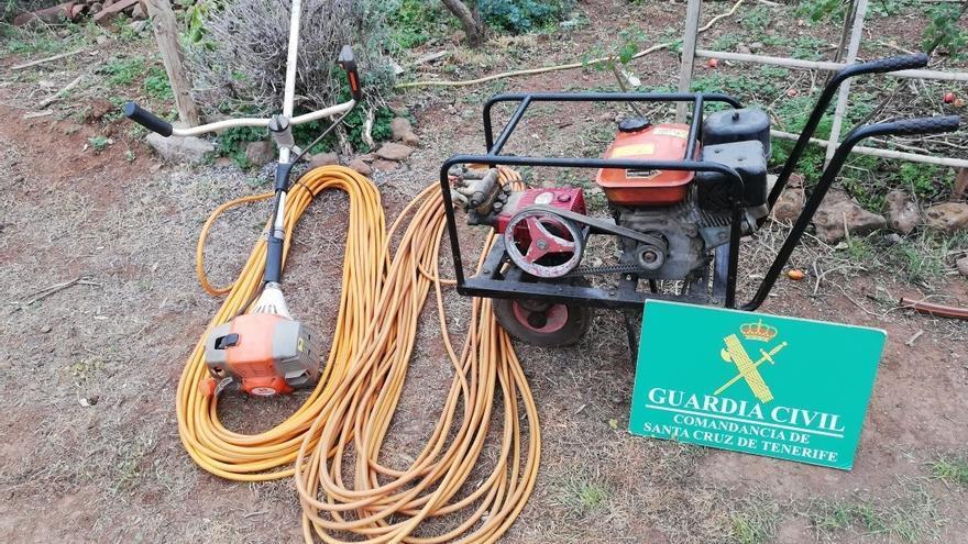 Investigado en Tenerife por robar maquinaria agrícola valorada en 1.000 euros