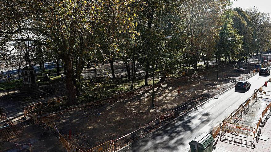 El entorno del parque del Muelle se cierra al tráfico 25 días para acabar la obra