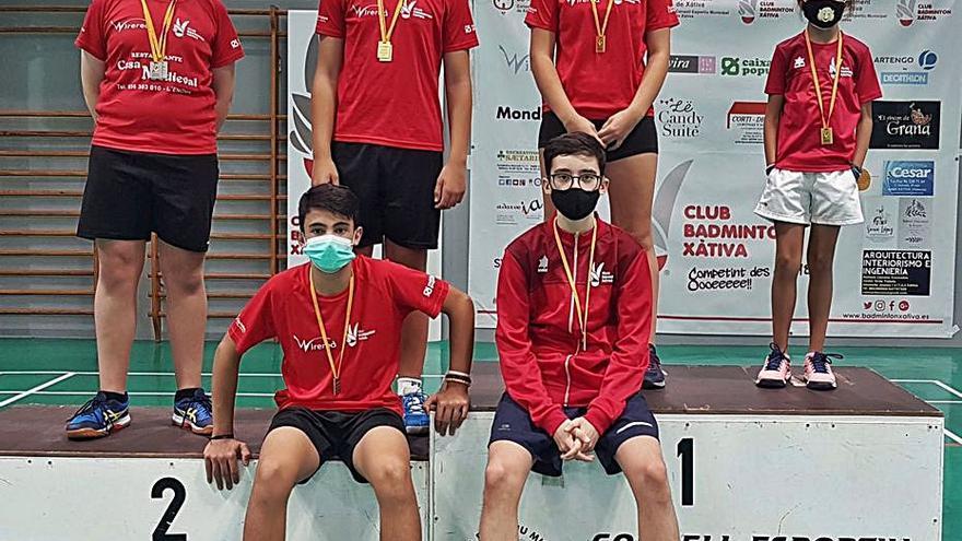 El Bádminton Xàtiva logra seis medallas en el Autonómico sub-11 y sub-15