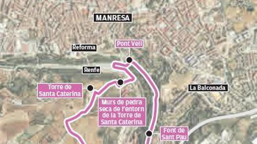 Una nova ruta de l'Anella Verda reivindica els Comtals