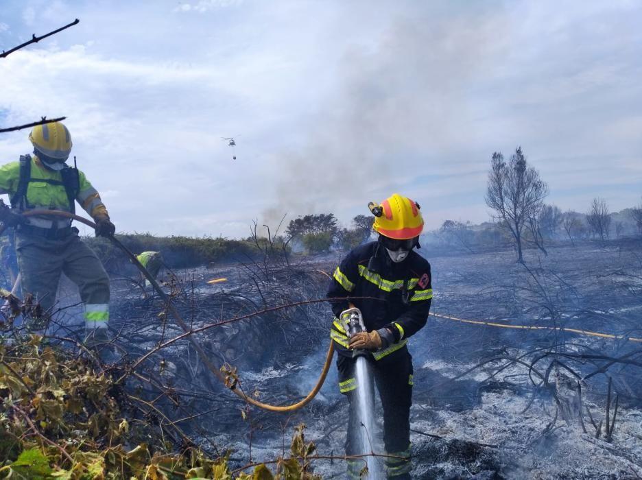 Nuevo incendio en Gata, el tercero desde el sábado