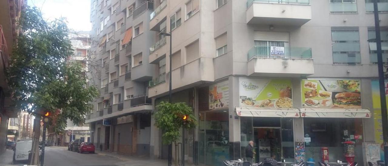 La calle de Cardenal Cisneros de Gandia, donde se produjo el proceso de desahucio forzoso.