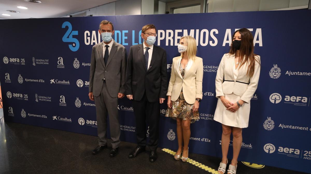 Ximo Puig también estuvo presente en el acto de entrega de premios