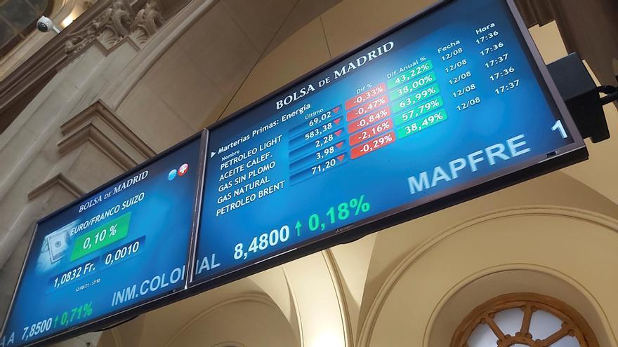El Ibex 35 repunta un 1,4% en la semana y roza los 9.000 puntos
