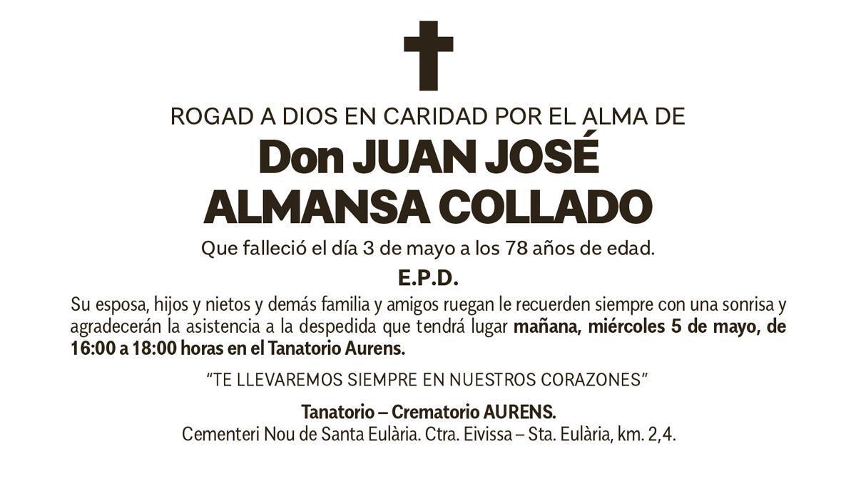 Esquela Juan José Almansa Collado
