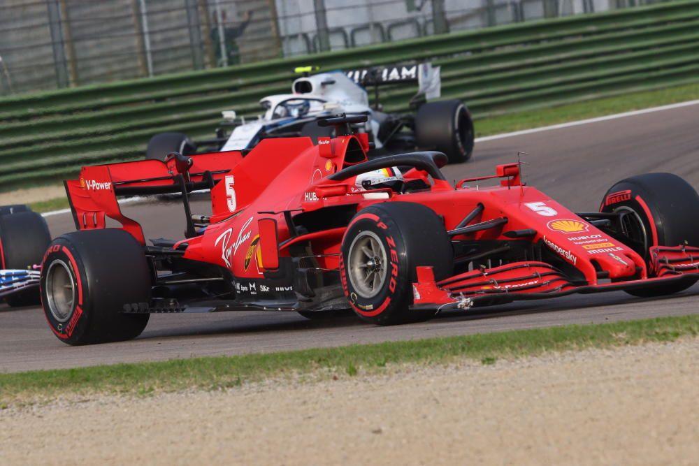 Hamilton se impone en Imola.
