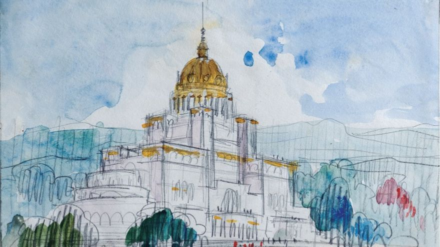 La arquitectura de papel y en color del genio Antonio Palacios