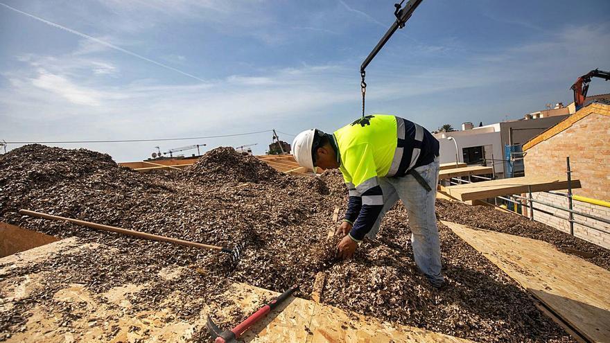 Las nuevas viviendas protegidas de Palma se cubren de posidonia