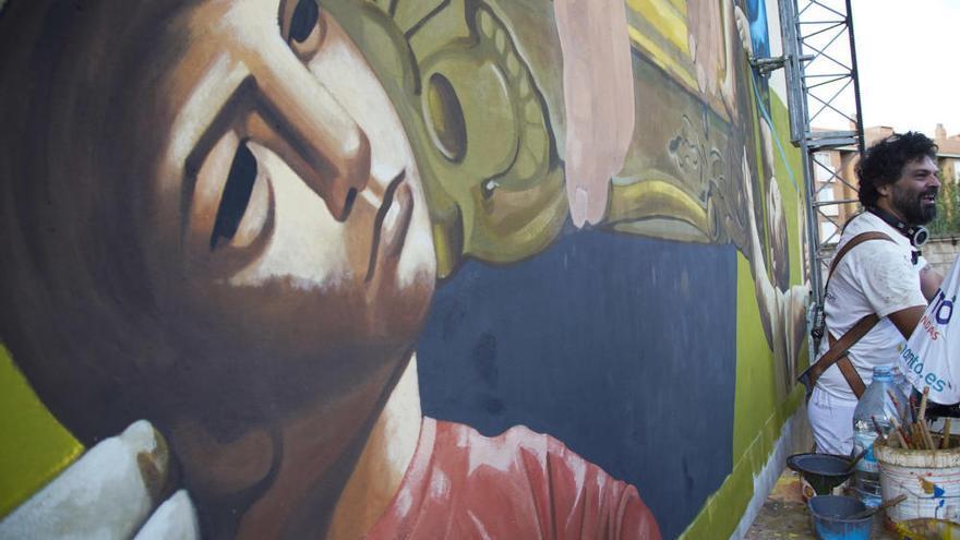Mural en Zamora en homenaje a Antonio Pedrero