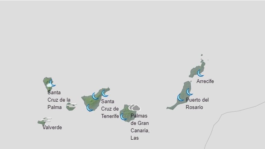 Más viento y nubes para terminar la Semana Santa en Canarias