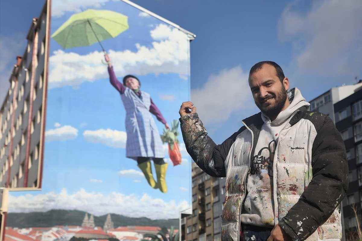 """Yoseba MP- El artista ante """"La Poppins do Sar"""" en Santiago"""