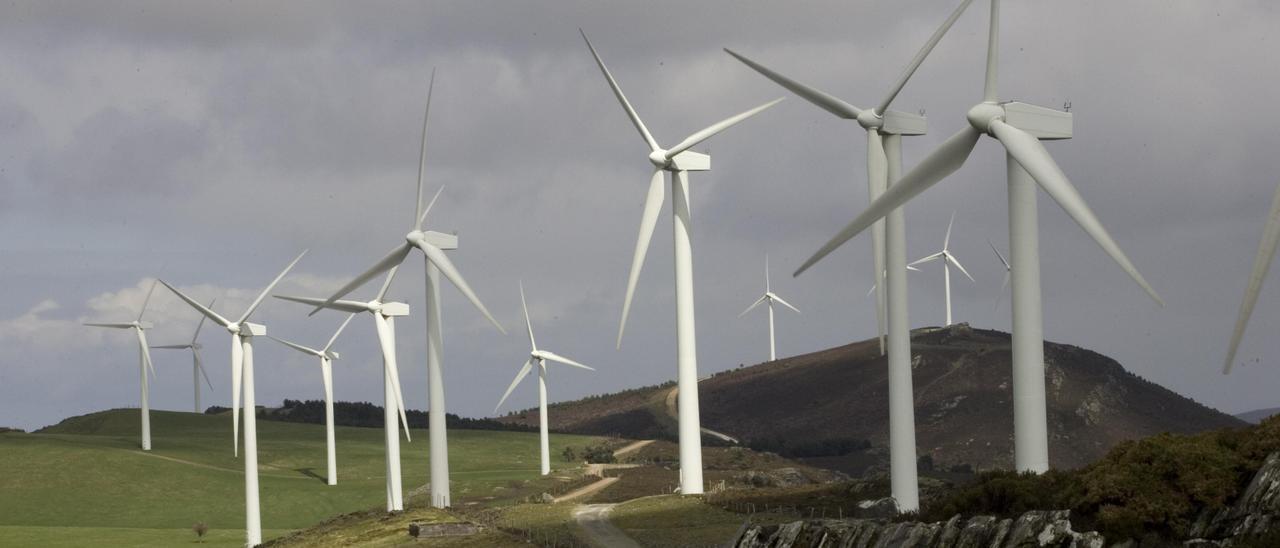 Parque eólico en Villanueva de Oscos
