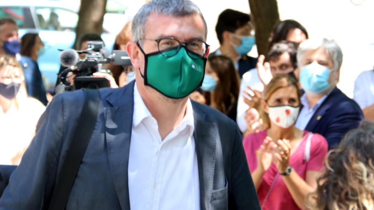 L'exsecretari de Comunicació del Govern Jaume Clotet arribant a la Ciutat de la Justícia per declarar a Instrucció 13