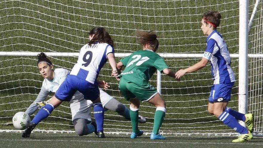 El Dépor A golea en el campo de El Olivo y el Victoria cae en Gijón