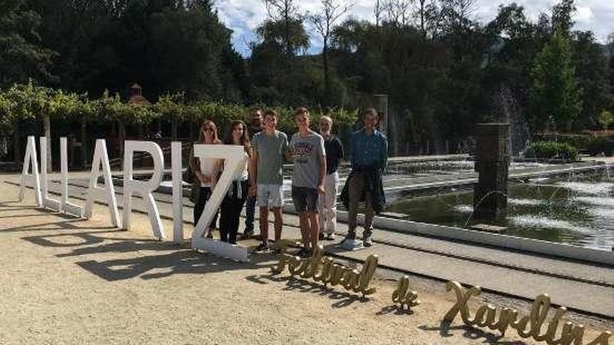 Alumnado catalán visita el Festival de Xardíns de Allariz