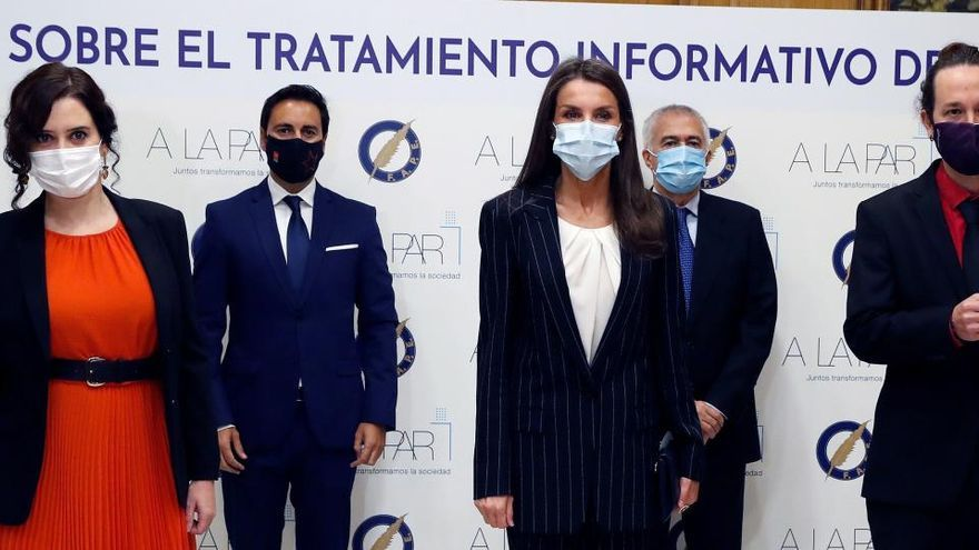 Pablo Iglesias vuelve a acompañar a la reina Letizia en un acto oficial