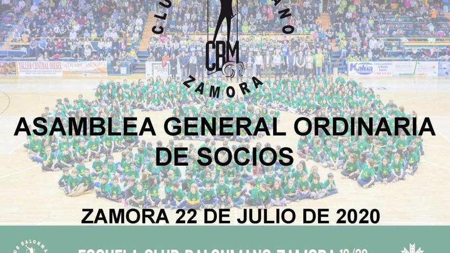 El BM Zamora celebra mañana su asamblea anual