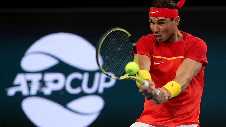 España prolonga ante Uruguay su pleno de victorias en la ATP Cup