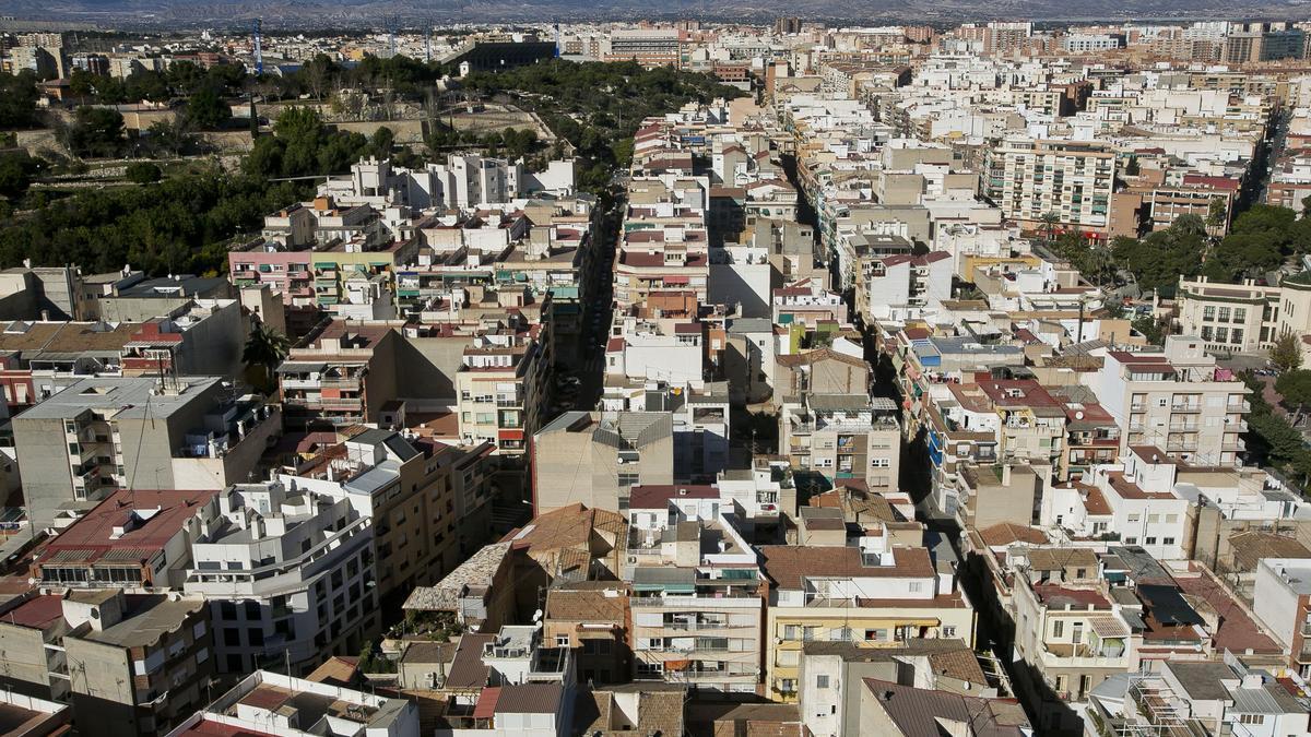 Vistas desde el Castillo de San Fernando de Alicante