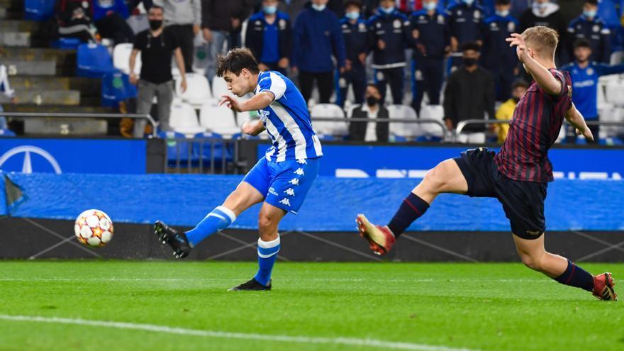 El Deportivo juvenil se va al descanso con tres goles a favor