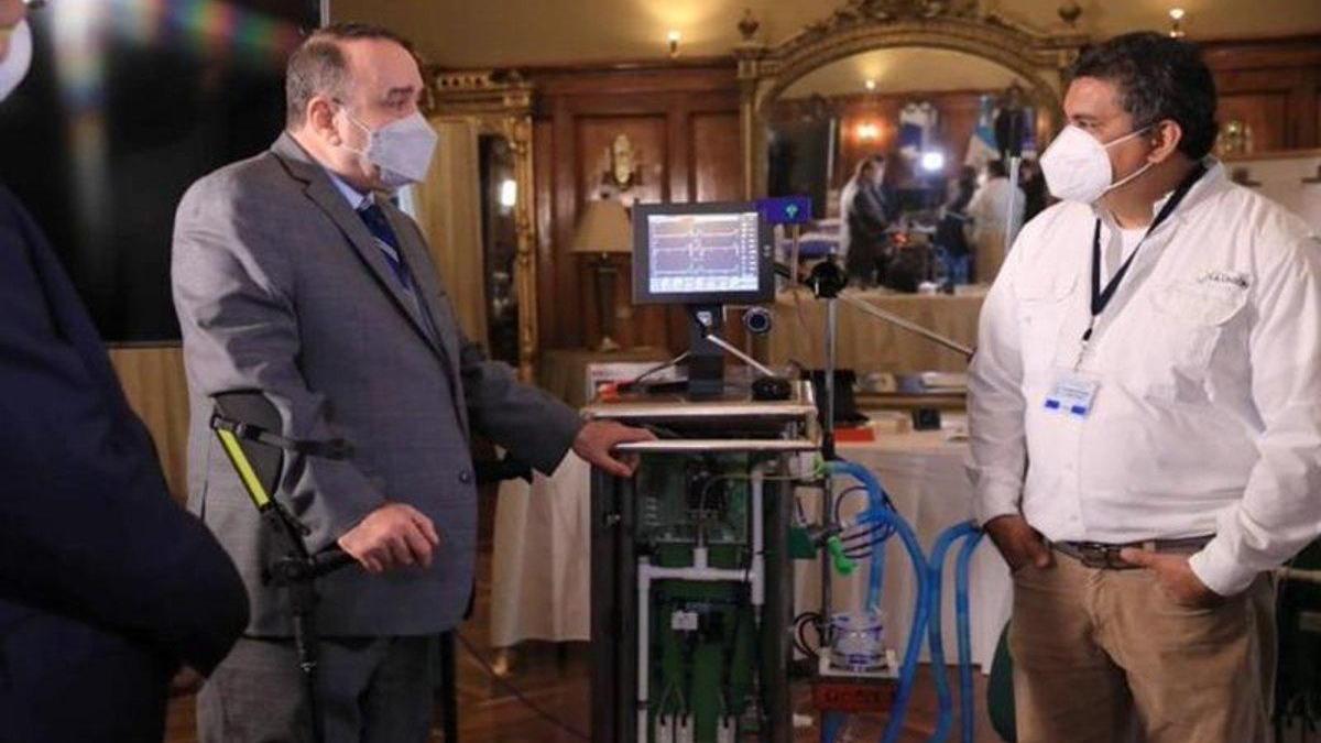 Crean en Guatemala un ventilador mecánico para enfermos de covid-19