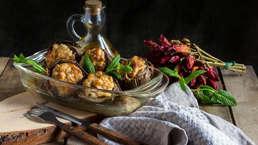 Alcachofas con carne