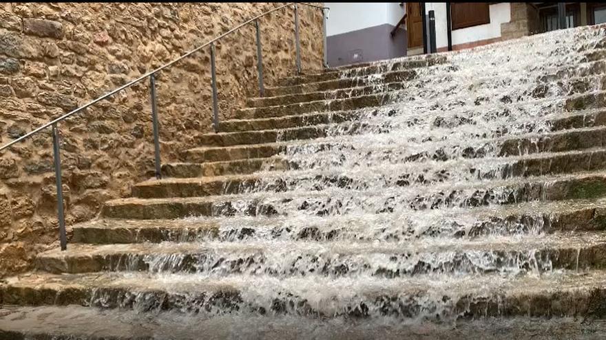 Una intensa tormenta deja precipitaciones de hasta 42,8 litros por metro cuadrado en el norte de Castellón