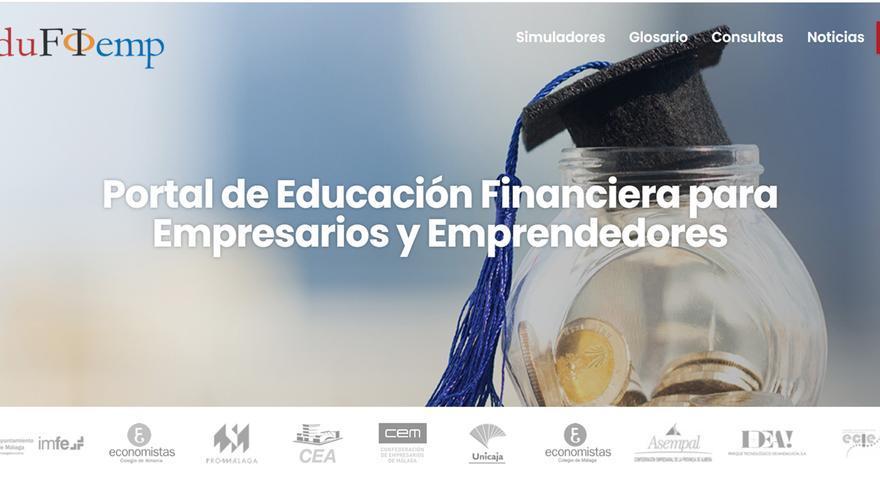 El Proyecto Edufinet de Unicaja estrena nueva web para su portal dirigido a empresarios y emprendedores