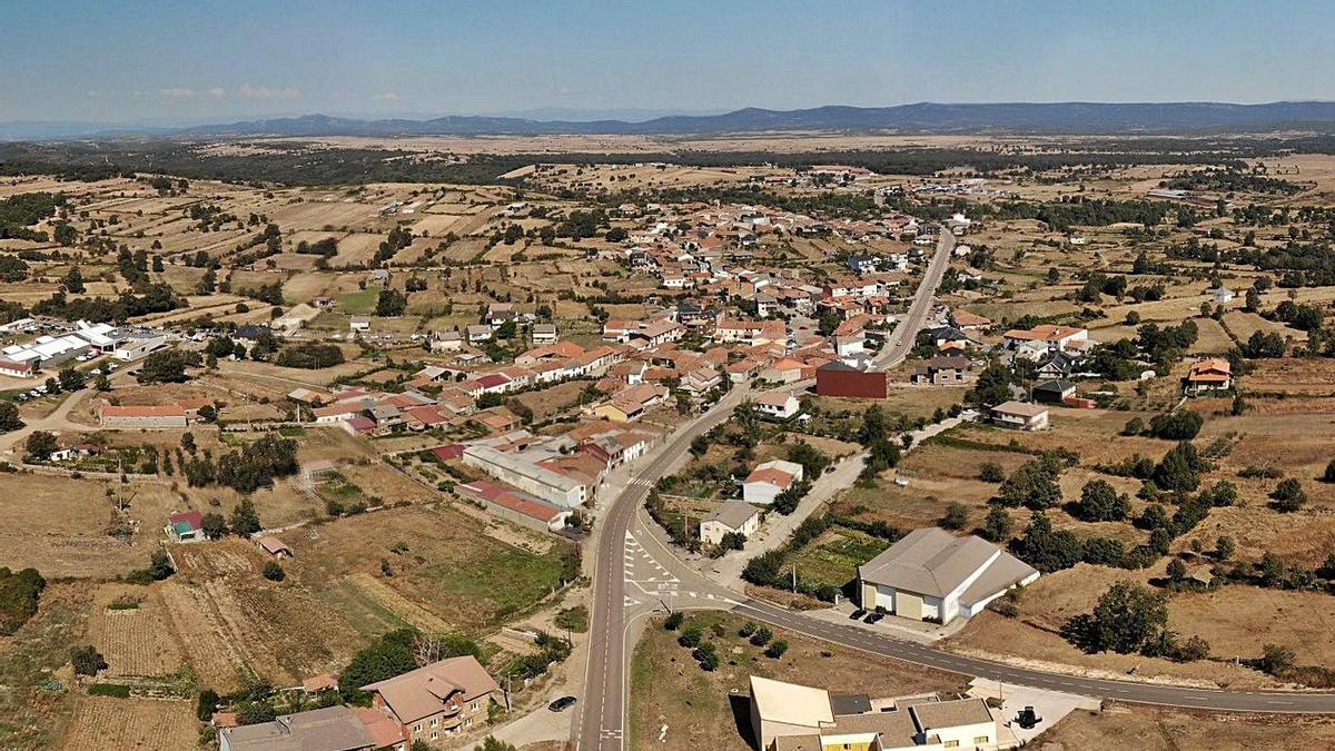 Imagen aérea de San Vitero. | Chany Sebastián