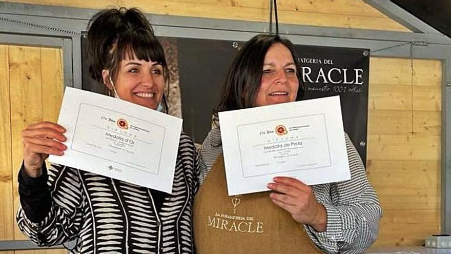 Dos formatges del Miracle són guardonats a la Fira de Sant Ermengol