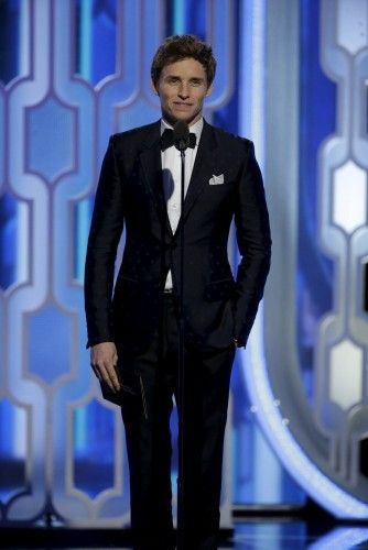 Redmayne presents at the 73rd Golden Globe Awards in Beverly Hills