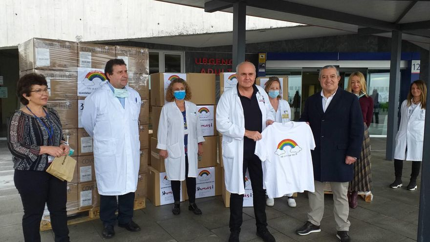 Donación estrella para el HUCA: 32.000 unidades de material sanitario