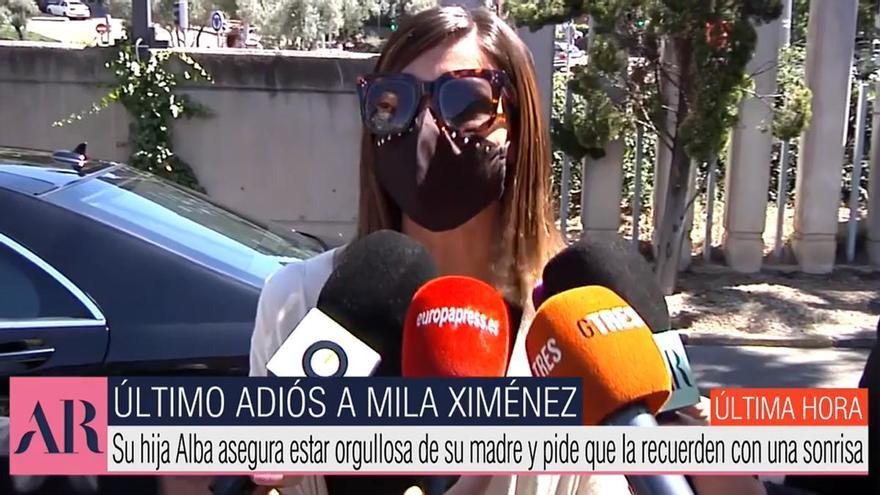 "Alba Santana se despide de Mila Ximénez: ""Estoy orgullosa de ser su hija"""