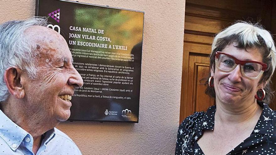 Una placa recorda el sacerdot a l'exili Joan Vilar