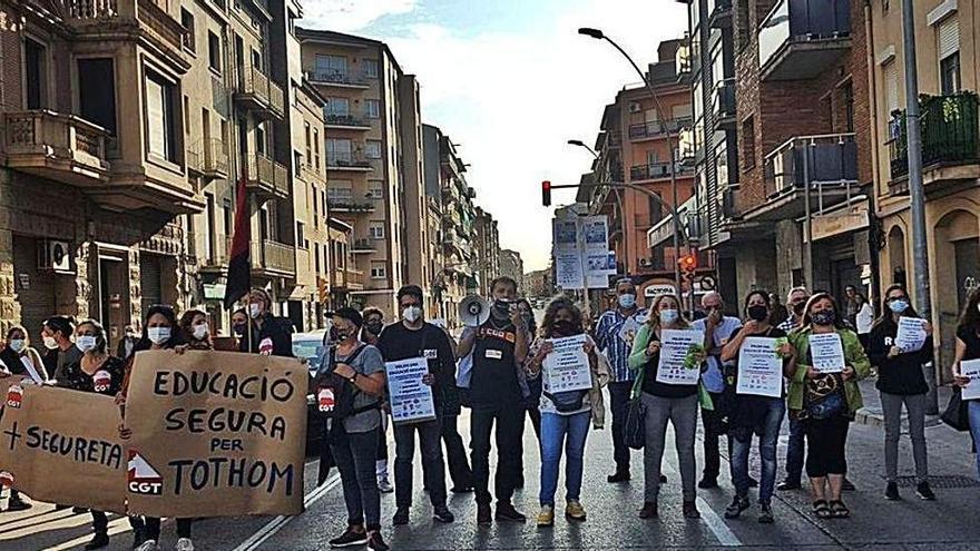 Manifestació dels sindicats d'ara fa un any a la carretera de Vic  | ARXIU/L.S.