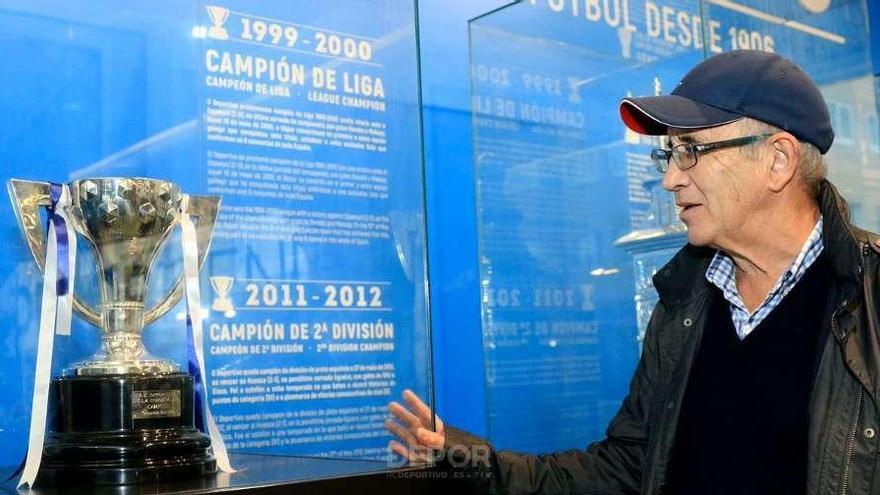 Javier Irureta, de visita en A Coruña y en el estadio de Riazor